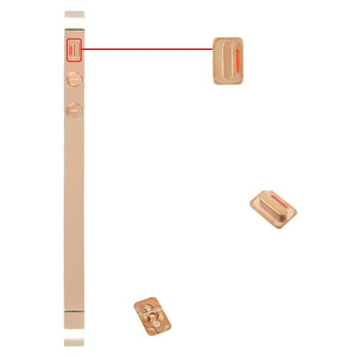 for iPhone 4s Midframe Middle Frame Board - Plated Rose Gold
