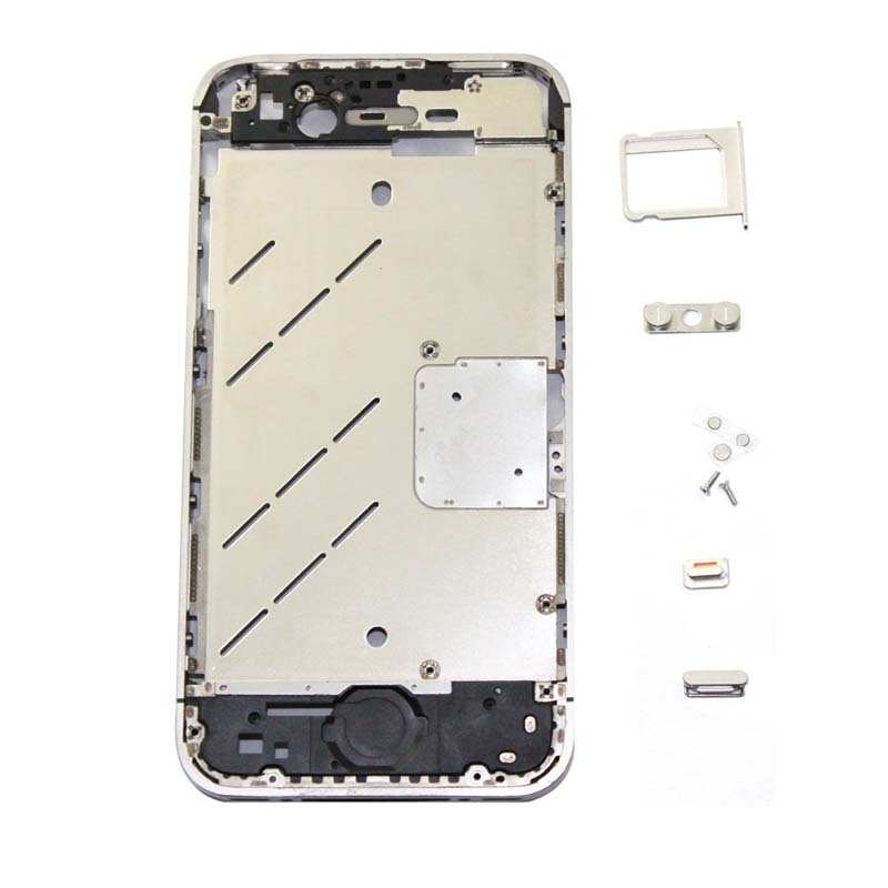 for iPhone 4s Midframe Middle Frame Board - Silver