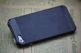 for iPhone 5 Aluminum+Plastic Case- Black/Black
