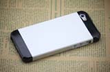 for iPhone 5 Aluminum+Plastic Case -Silver/Black