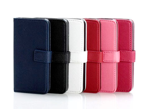 for iPhone 5 Cross Pattern Card Holder Leather case -6 colors