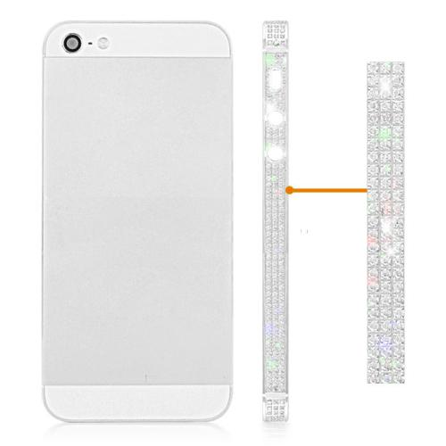 for iPhone 5 Diamond Middle Plate Housing Cover -Silver