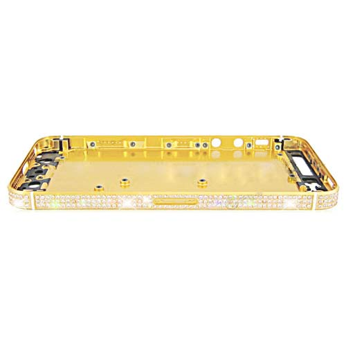 for iPhone 5 Diamond Middle Plate Housing Cover -Gold