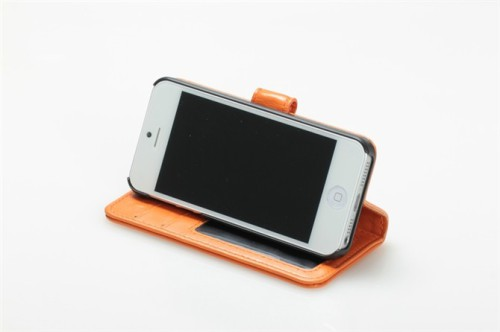 for iPhone 5 Imitation sheepskin leather case