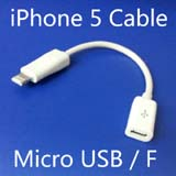 for iPhone 5 8 Pin 8pin to Micro USB 5pin Adapter Cable