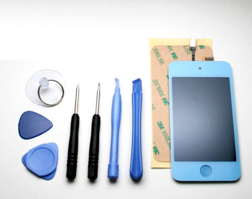 iPod Touch 4 Front LCD Screen Replacement Assembly - Blue