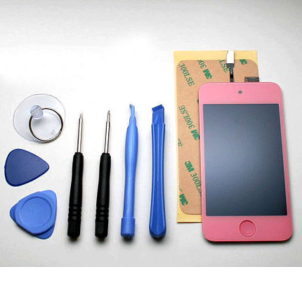 iPod Touch 4 Front LCD assembly - Hot Pink