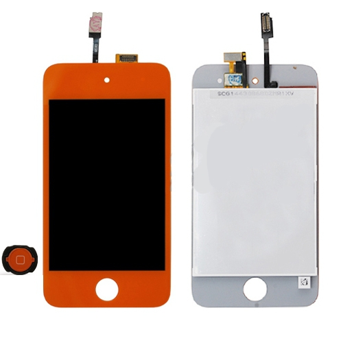 iPod Touch 4 Front LCD assembly - Orange