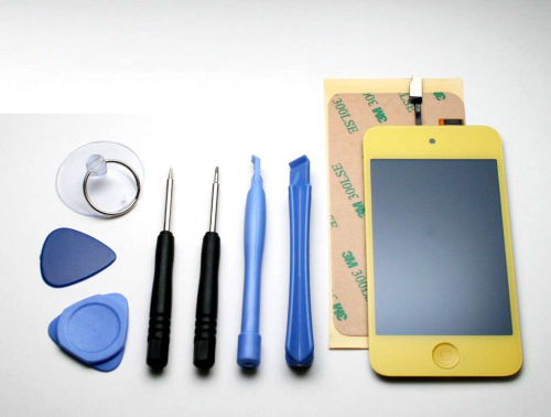 iPod Touch 4 front LCD assembly - Yellow