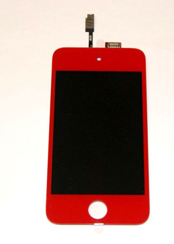 Screen Replacement for iPod Touch, Front LCD + Digitizer Assembly - Red