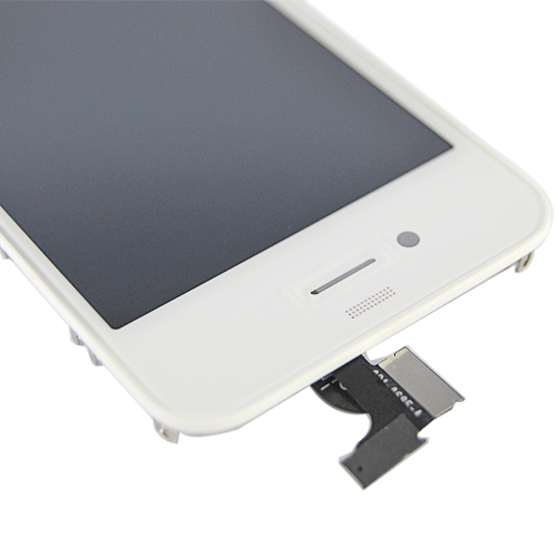 for iPhone 4 Digitizer Touch Panel Screen w/ LCD Display Screen +Flex Cable +Supporting Frame