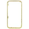 for iPhone 3GS Gold Bezel Frame with White Diamond