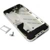 for iPhone 4 Middle frame Midframe Full assembly-Silver with Diamond