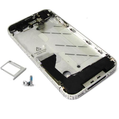 for iPhone 4S Middle frame Midframe Full assembly -Silver with Diamond