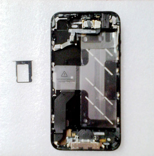 for iPhone 4S Middle frame Midframe board Full assembly-Black