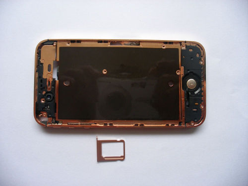 for iPhone 4S Middle frame Midframe board Full assembly-Rose Gold