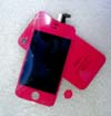 for iPhone 4S conversion kit -Magenta (LCD+Back cover+Home button)
