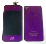 for iPhone 4s conversion kit -Plated Mirror Half Purple