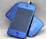for iPhone 4s conversion kit -Plated Mirror Half deep blue