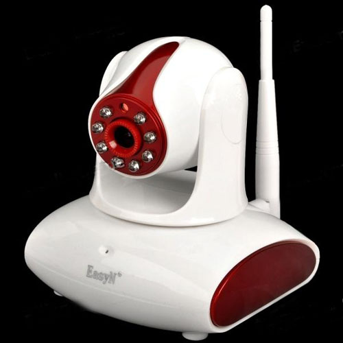 "EasyN H6-M137 1/4"" CMOS 300KP Security Surveillance IP Network Camera with Night Vision - Red"