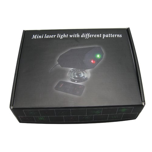 Dynamic Stage Starry Effects Laser Light Projector w/ Green and Red Lights